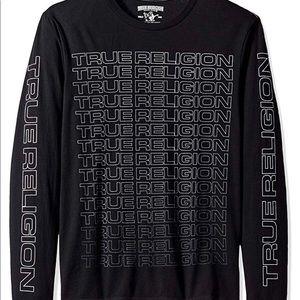 True Religion 100% Cotton Long Sleeve Crew TShirt
